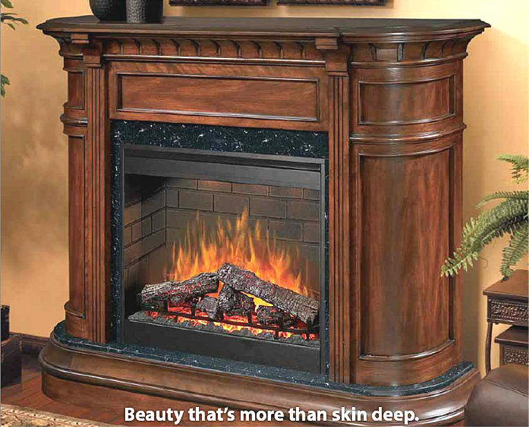 Bimplex packages include awardwining dimplex fireplace and dramatic cabinets. A homeowners and remodelers dream